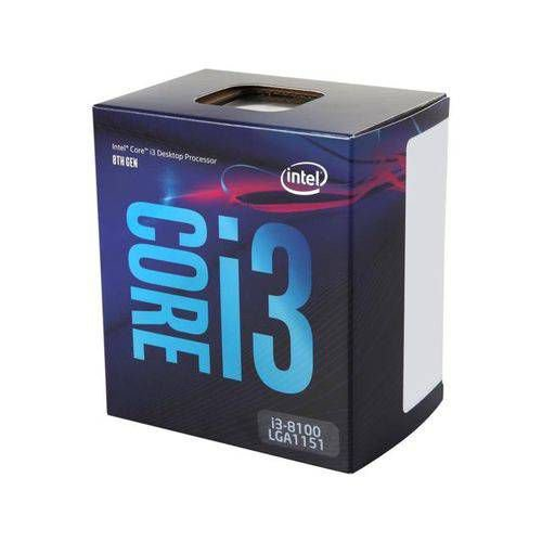 CPU CORE I3 8100 3.60GHZ 6MB 1151 BOX 8 GERACAO