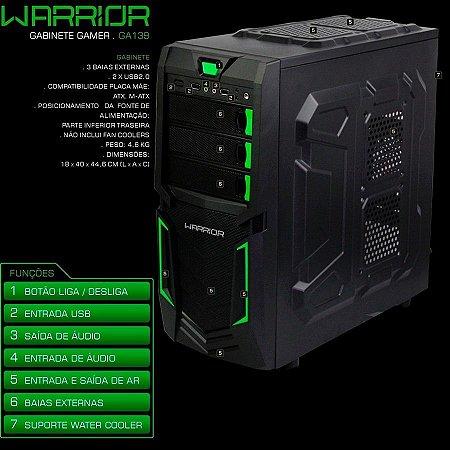 PC Gamer Warrior intel Core i3 - 8GB 1TB Placa de Vídeo 2GB GTX1050