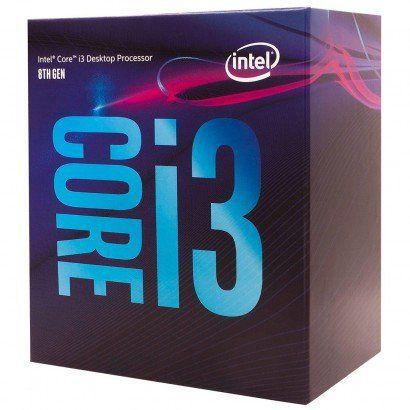 Processador Intel Core i3-8100 Coffee Lake LGA 1151 3.6GHz Cache 6MB 8ª Geração, BX80684I38100