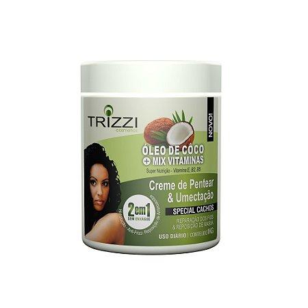 Creme de Pentear e Umectação 2 em 1 Coco + Mix Vitaminas 1kg Trizzi