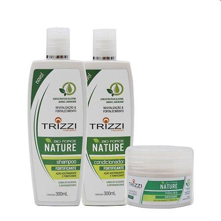 Kit Bio Force Nature Trizzi - Shampoo 300ml + Condicionador 300ml + Máscara 300gr