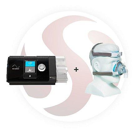 Cpap Automático AirSense S10 Autoset Resmed / Umidificador + Máscara Nasal True Blue