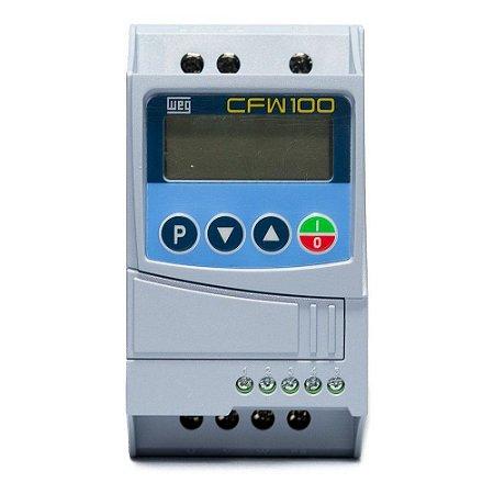 Inversor de Frequência CFW100 0,25cv 220V Entrada Monofásica WEG