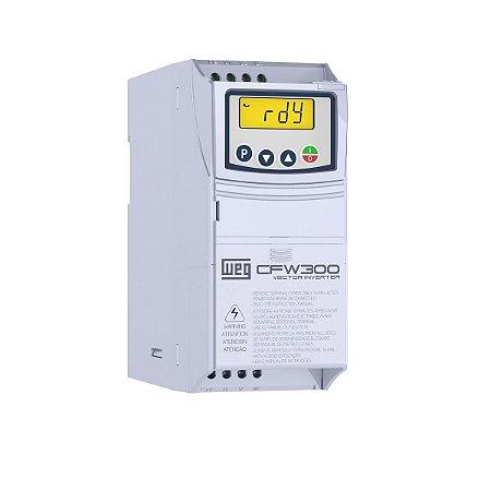 Inversor de Frequência CFW300 1CV 220V 4,2A Entrada Trifásica WEG