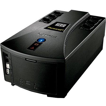 Nobreak WEG Personal 1200VA, TE 115V - TS 115V c/ 1 Bateria Selada VRLA de 9Ah