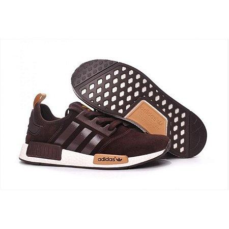 hot sale online 13190 a5ad4 Adidas NMD marrom + RELOGIO CASIO DE BRINDE