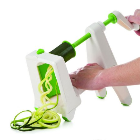 Fatiador Espiral à Manivela Progressive em Plástico - Branco / Verde