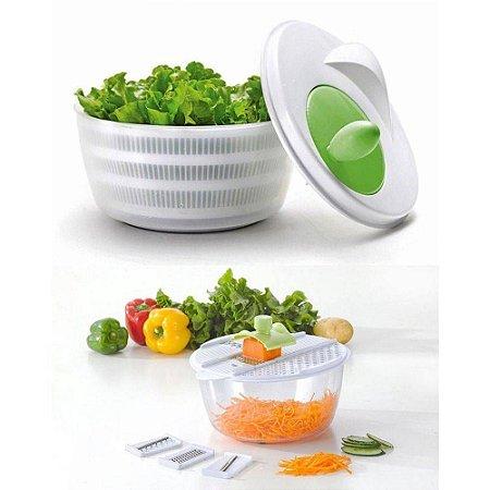 Centrifuga para Salada com 04 Lâminas para corte de Legumes
