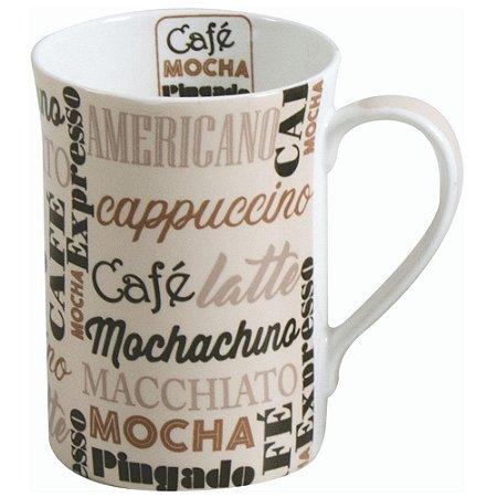 Caneca Creme em Porcelana 320 ML Chá e Café