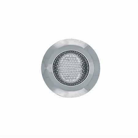 Ralo para Pia de Tela em Aço Inox 7 cm Válvula Americana