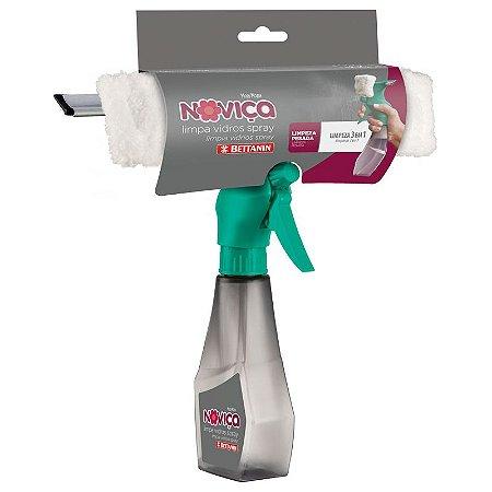 Limpa Vidro 3 X 1 Noviça Spray Lava Seca Mop Bettanin Limpeza Molhada