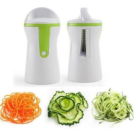 Cortador de Legumes e Vegetais Fatiador Espiral em Aço Inox Macarrão Abobrinha Cozinha Pratica