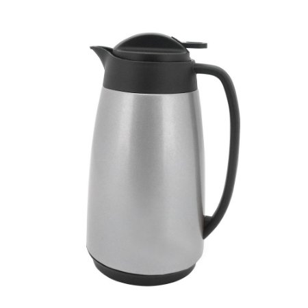 Garrafa Térmica Aço Inox 1 Litro Jeannie Ampola Vidro Grande Para Servir Café Chá Água