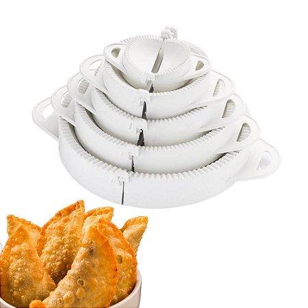 Forma Molde Pastel Salgados Risole Kit 5 Tamanhos Branco Cozinha prática