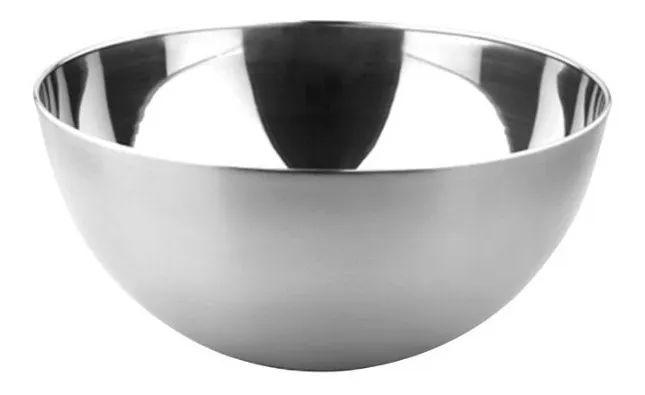 Bowl Em Aço Inox Polido Tigela Multiuso 9 cm Preparo Cozinha Completa Funcional