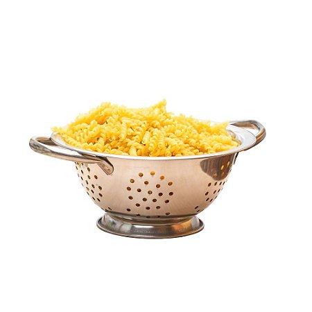 Escorredor De Macarrão Em Aço Inox 24cm Com Alças Multiuso Cozinha Funcional Completa Gourmet Premium
