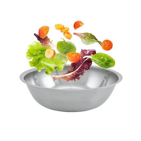 Tigela Mixing Bowl Aço Inox 24cm Multiuso Resistente Cozinha Funcional Servir Gourmet