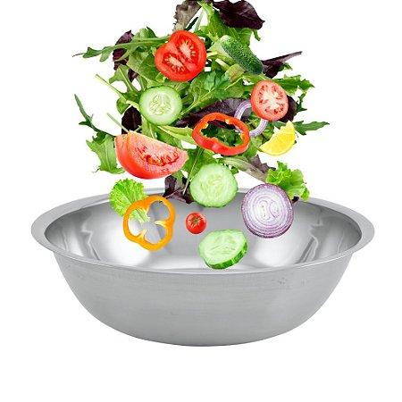 Tigela Mixing Bowl Aço Inox 35cm Resistente Multiuso Preparar Servir Cozinha Gourmet Premium