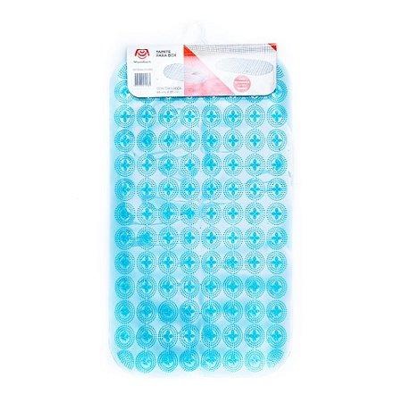 Tapete Antiderrapante Para Box Banheiro 66 x 37 cm em PVC  Base com Ventosas Mundiart Segurança