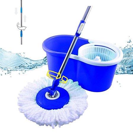 Balde Spin Mop 12 Litros Esfregão Giratório Rotação 360º Limpeza Rápida e Fácil