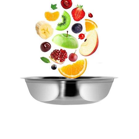 Bowl Tigela Aço Inox 16cm Bacia Multiuso Cozinha Completa Preparação Servir Útil