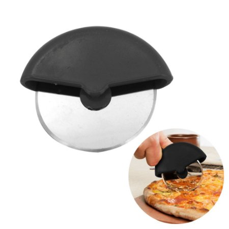 Cortador de Pizza Carretilha Rodinha Para Massas em Aço Inoxidável com Base em Polipropileno Ø 9 cm