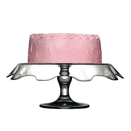 Boleira Prato Para Bolo e Sobremesas de Vidro Transparente Suporte 25x12 cm Mesa de Doces