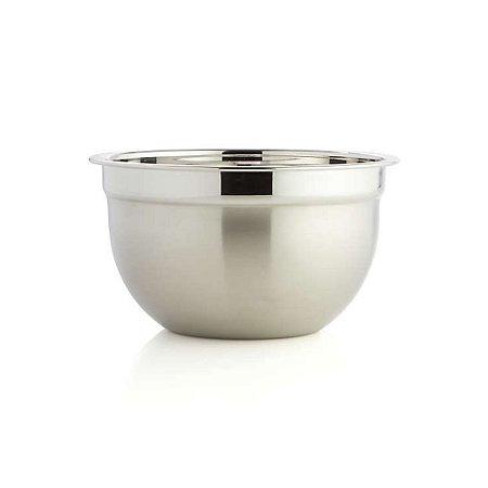 Tigela Mixing Bowl em Aço Inoxidável Profissional Fundo Multiuso 22 x 12 cm Cozinha Completa Gourmet