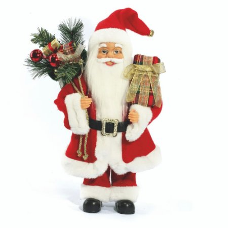 Papai Noel Decoracao Natalina Boneco 40cm Decorativo Enfeite de Natal Tradicional Clássico Presentes