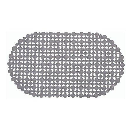 Tapete Para Box de Banheiro 68 x 38 cm em 100% PVC Antiderrapante Base Com Ventosa Não Escorrega
