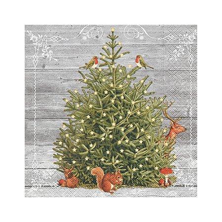 Guardanapo de Papel Decorado Estampado Árvore de Natal Luxo Pacote com 20 unidades A Special Tree