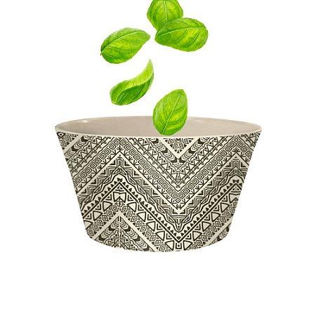 Bowl Bacia Saladeira Pequena em Fibra de Bambu 15cm Leve Sustentavel Material Ecologico Estampado