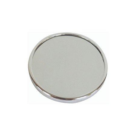 Espelho de Aumento 10X com Ventosa 13cm Fackelmann Maquiagem Barbear Cromado Banheiro