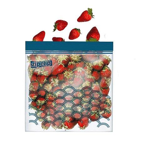 Kit 20 Saco Plastico Para Freezer Zip Cllip Hermetico Saquinho Embalagem 18 x 20cm Marinar Cozinha
