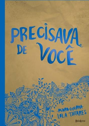 PRECISAVA DE VOCE - (CAPA AZUL)