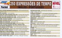 250 EXPRESSOES DE TEMPO INGLES-PORTUGUES - NIVEL 1