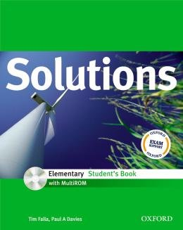 SOLUTIONS ELEMENTARY SB WITH CD-ROM - 1ST ED