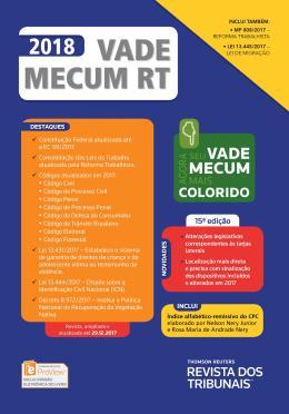 VADE MECUM RT 2018 - 15ª ED