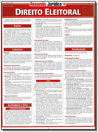 Resumao Juridico - Vol.18 -Direito Eleitoral