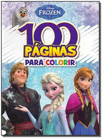 Disney Frozen - 100 Páginas Para Colorir