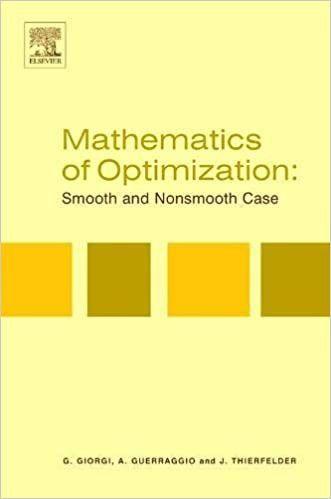 MATHEMATICS OF OPTIMIZATION       H