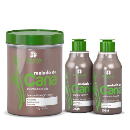 MÁSCARA MELADO DE CANA 1kg + KIT HOME CARE MELADO DE CANA 300ml