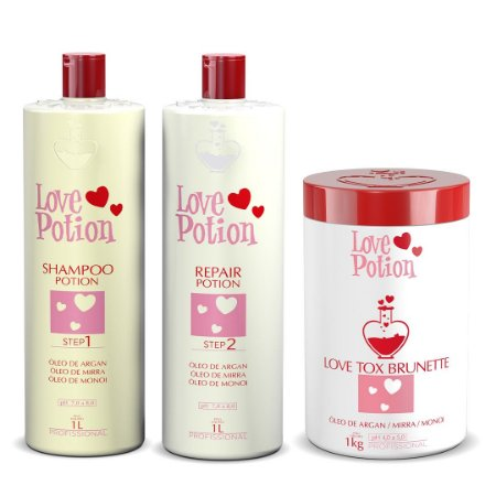 ESCOVA PROGRESSIVA KIT REPAIR +  LOVE TOX BRUNETTE - LOVE POTION