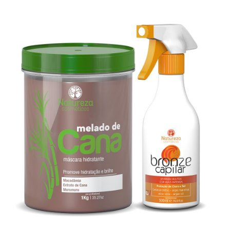 MELADO DE CANA 1KG + BRONZE CAPILAR  500ML