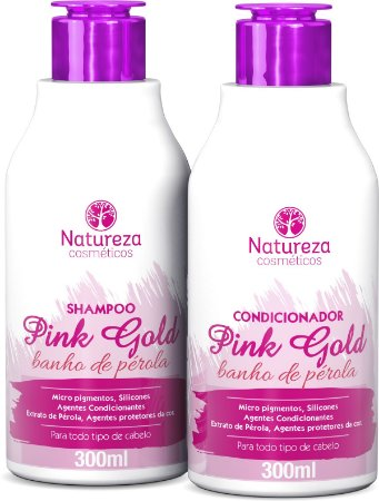 HOME CARE PINK GOLD -  SHAMPOO E CONDICIONADOR 300ml - NATUREZA COSMÉTICOS