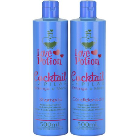 SHAMPOO E CONDICIONADOR MORANGO E MENTA COCKTAIL - LOVE POTION
