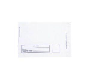 Envelope Plástico 19x26 Remetente e Destinatário Branco - Pct com 100 unidades