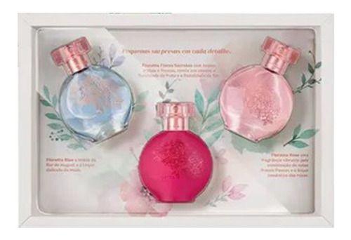 Kit Presente Feminino Floratta Flower: Blue 30ml + Rose 30ml + Flores Secretas 30ml