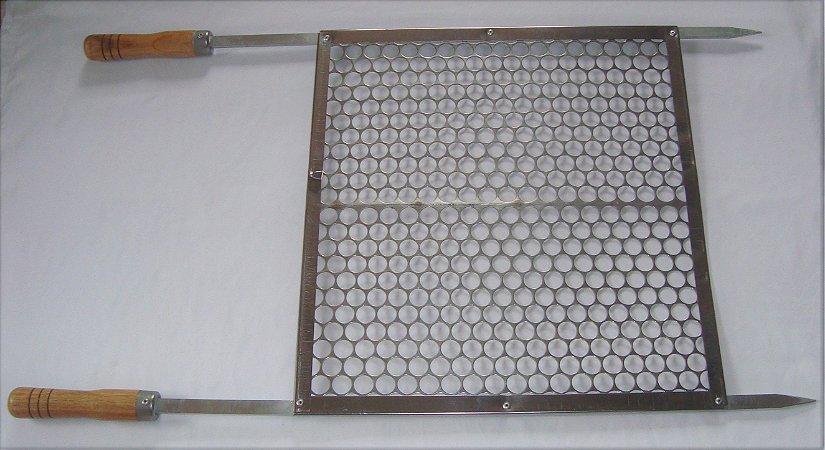 Grelha moeda Inox 50X45 reforçada