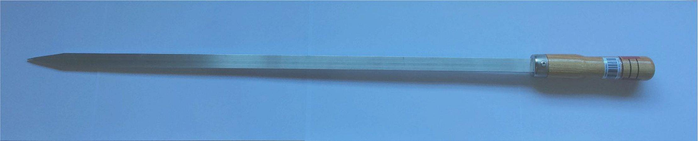Espeto chato Alumínio 65 cm